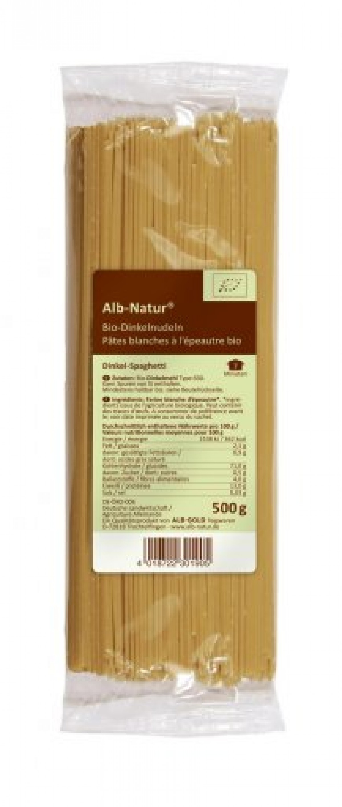 Alb Natur Dinkel-Spaghetti hell 500g