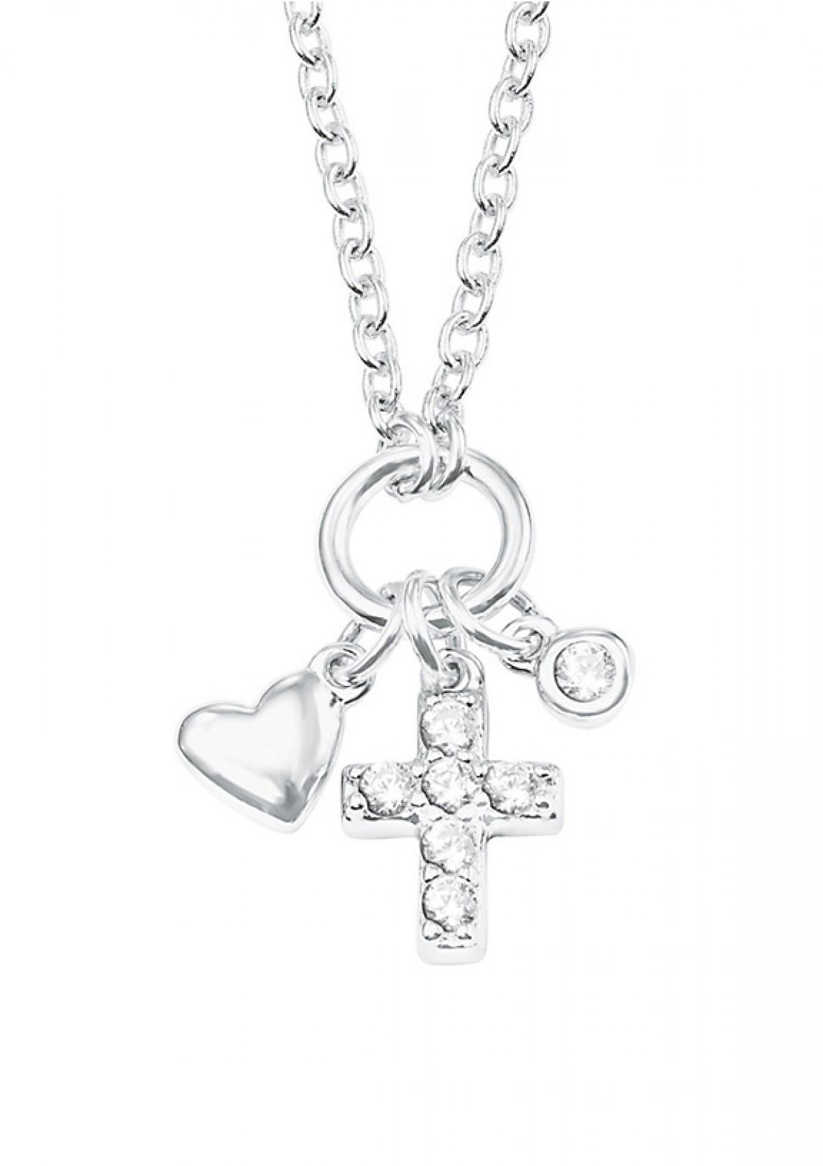 Halskette S.Oliver Herz und Kreuz in Silber