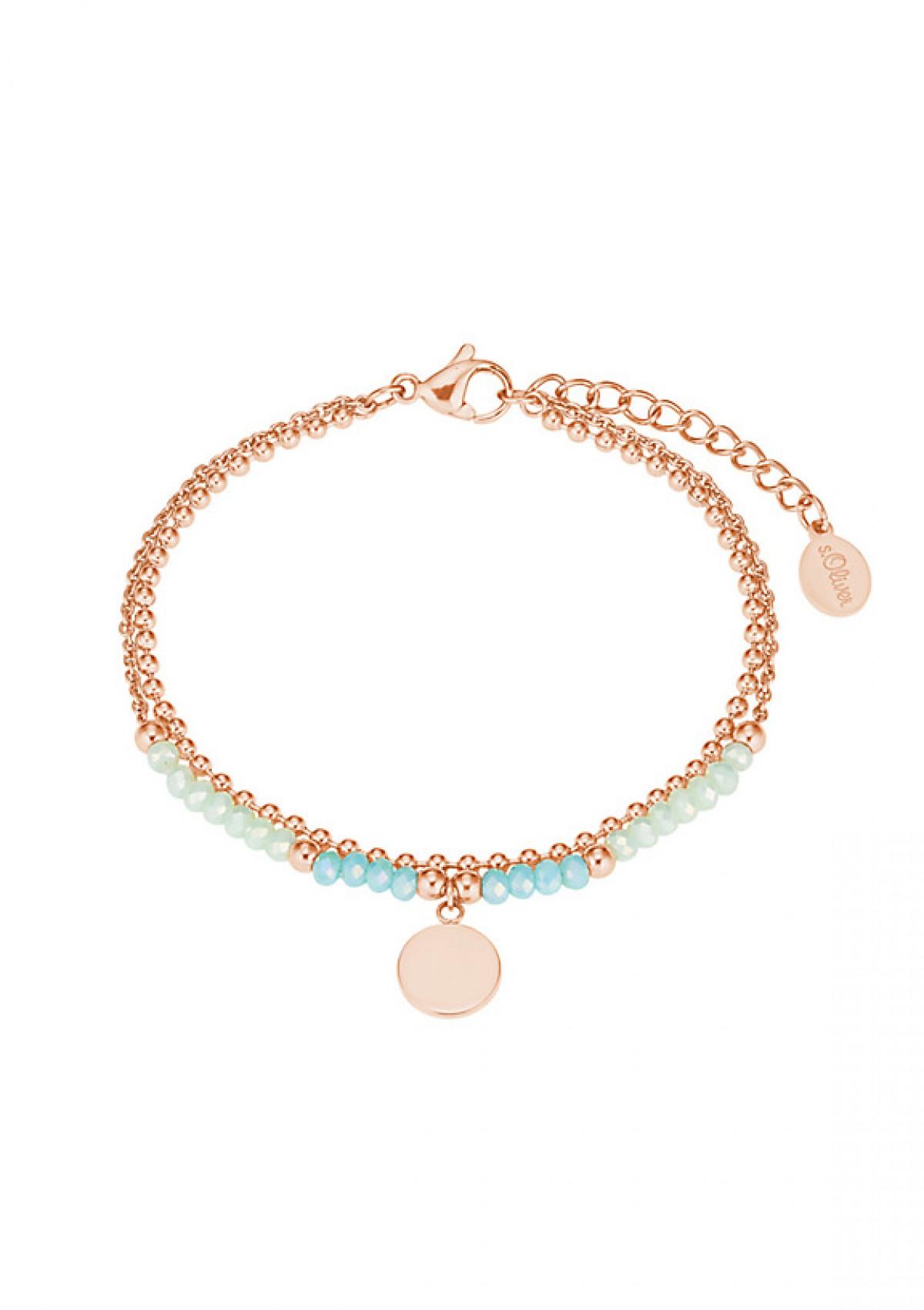 Armband  S.Oliver mit IP Rose und Glasperlen